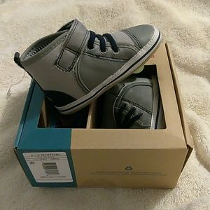 NIB Surprize By Stride Rite Lt Gray Infant Shoes
